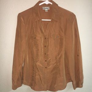 Dressbarn blouse long sleeve brown